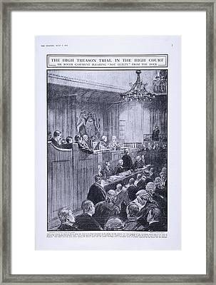 Sir Roger Casement In The Dock Framed Print by British Library