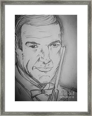 Sir Sean Connery  Framed Print by Collin A Clarke