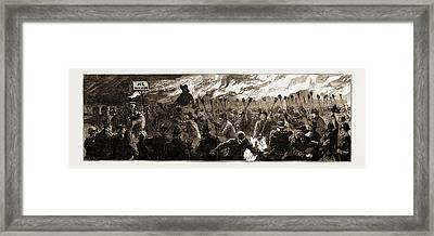 Sir Stafford Northcote In Ulster The Orange Torchlight Framed Print by Litz Collection