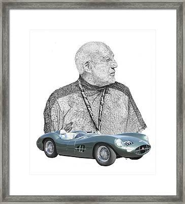 Sir Stirling Moss 1957 Aston Martin Framed Print