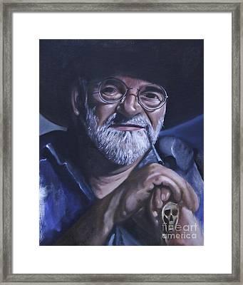 Sir Terry Pratchett Framed Print
