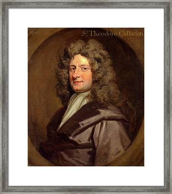 Sir Theodore Colladon Inscribed Top Right Sr Theodore Framed Print
