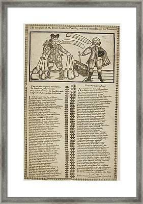 Sir Thomas Dodger And M. Tenter-hooke Framed Print