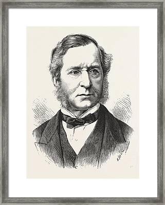 Sir Thomas Henry, Chief Metropolitan Magistrate, Engraving Framed Print