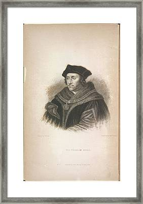Sir Thomas More Framed Print