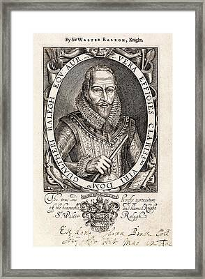 Sir Walter Raleigh Framed Print by Middle Temple Library