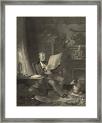 Sir Walter Scott 1846 Framed Print by Padre Art