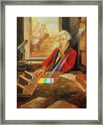 Sir William Herschel 1738-1822 Framed Print by Ken Hodges