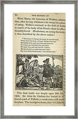 Sir William Wallace Framed Print by British Library