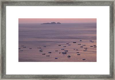 Siren Island - Positano Framed Print by Nora Boghossian