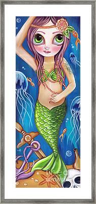 Siren Of The Seabed Framed Print
