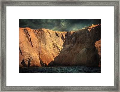 Siren Rocks Framed Print