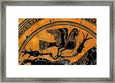 Siren With Lotus Buds - Detail No. 1 Framed Print