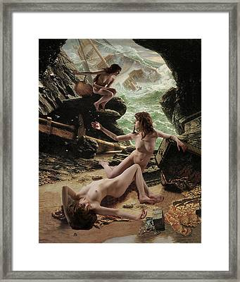 Sirens' Cave Framed Print