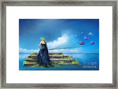 Sirens Lure Framed Print by S G