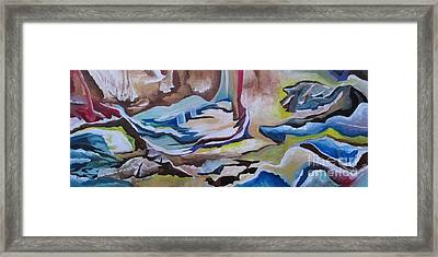 Framed Print featuring the painting Sirens by Nereida Rodriguez