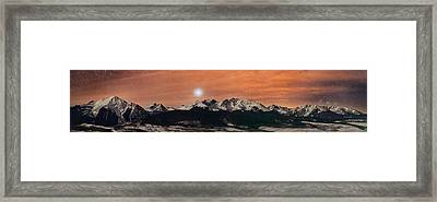 Sirius Diffusion Over The Gore Range Framed Print by Mike Berenson