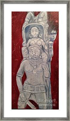 Sirpam- Sculpture Painting Framed Print by Brindha Naveen