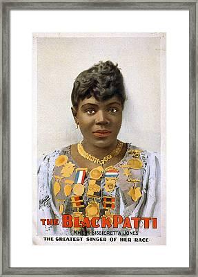 Sissieretta Jones (1868-1933) Framed Print by Granger