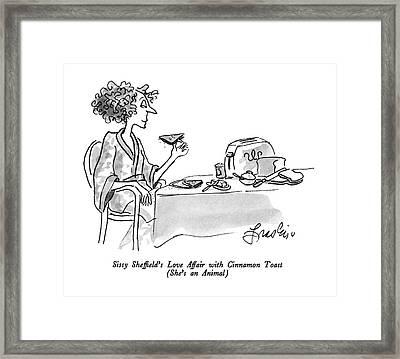 Sissy Sheffield's Love Affair With Cinnamon Toast Framed Print by Edward Frascino