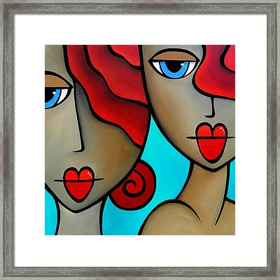 Sister Act By Thomas Fedro Framed Print