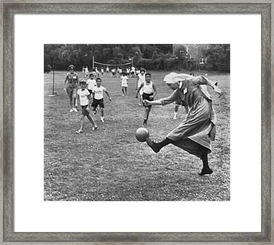 Sister Boots The Ball Framed Print