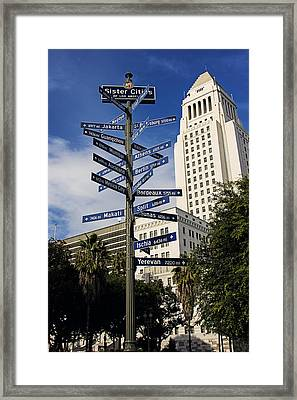 Sister Cities Framed Print by Mark Bacon