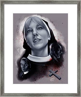 Sister Mary Eunice Framed Print by Pete Tapang