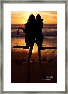 Sister Sunset Framed Print