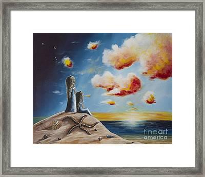 Original Seascape Artwork Framed Print