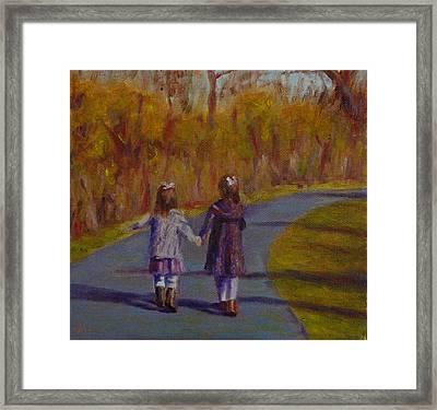 Sisters Always Framed Print