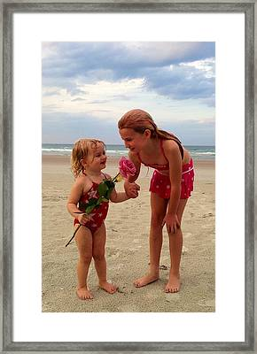 Sisters Are Forever Framed Print by Kaley Connor