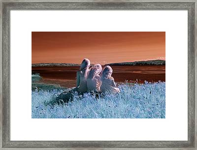 Sisters Dreaming Framed Print by Rebecca Parker