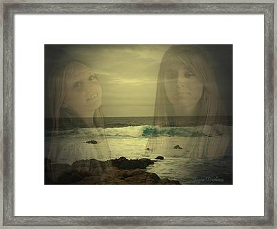 Framed Print featuring the photograph Sisters Forever by Joyce Dickens