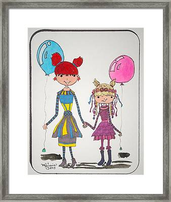 Sisters Friends Framed Print by Mary Kay De Jesus