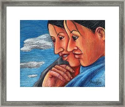 Sisters Framed Print by Gabriela Nunez