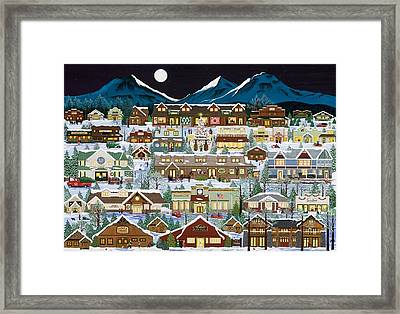 The Village Under The Cascades Framed Print