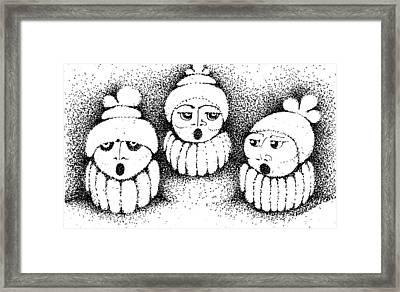 Sisters In Harmony Framed Print by Joy Bradley