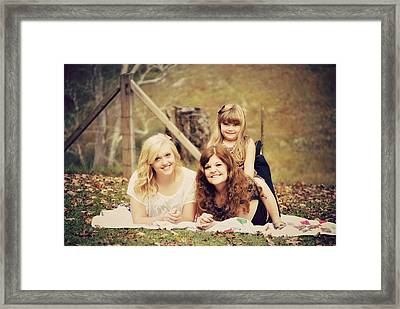 Sisters Making Memories Framed Print