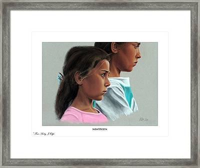 Sisters Print Version Framed Print by Joseph Ogle