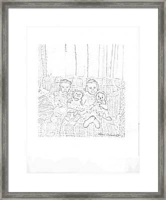 Sisters Framed Print by Rebecca Christine Cardenas