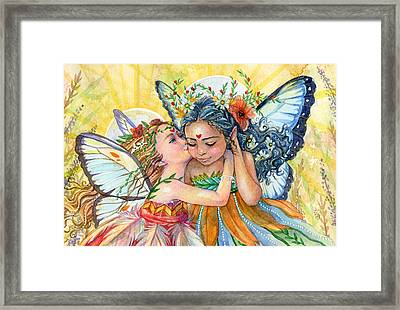 Sisters Framed Print by Sara Burrier