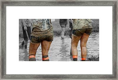 Sisters In Mud Framed Print by Steven Digman