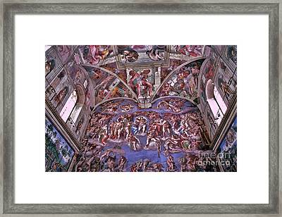 Framed Print featuring the photograph Sistine Chapel by Allen Beatty