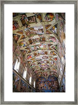 Sistine Chapel Ceiling. Framed Print by Mark Williamson