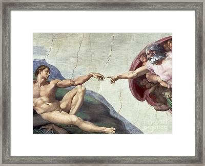 Sistine Chapel Ceiling Framed Print by Michelangelo Buonarroti