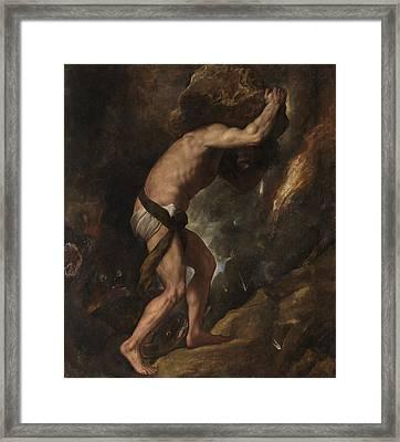 Sisyphus Framed Print
