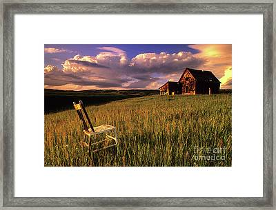Sit A Spell Framed Print by Bob Christopher