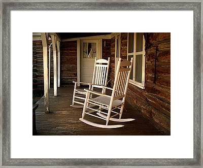 Sit A Spell Framed Print by Leland D Howard