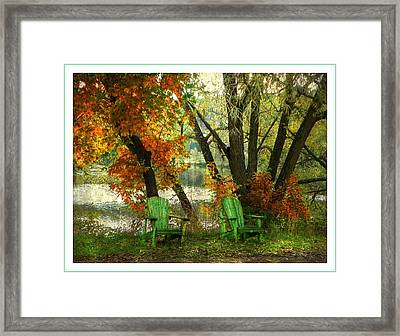 Sit A While Framed Print by Dianne  Lacourciere